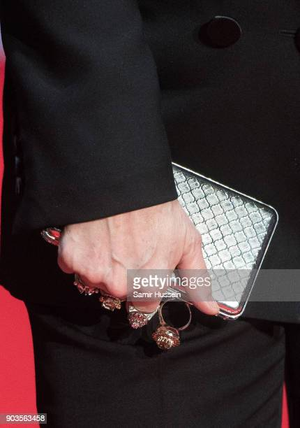 Meryl Streep bag detail attends 'The Post' European Premeire at Odeon Leicester Square on January 10 2018 in London England