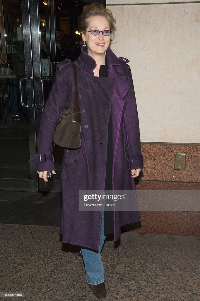 Meryl Streep during Neil Young Heart of Gold New York Screening - Arrivals at Walter Reade Theater in New York, NY, United States.