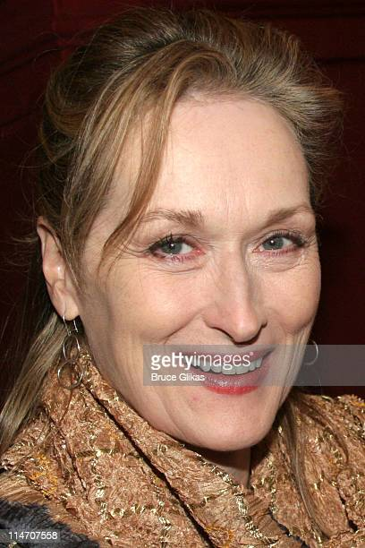 Meryl Streep during Sarah Jones' Bridge and Tunnel Broadway Opening Night Arrivals at Helen Hayes Theatre in New York City New York United States