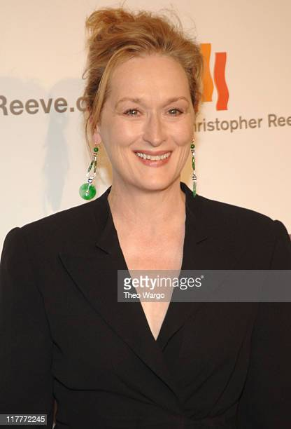 """Meryl Streep during The Christopher Reeve Foundation's """"A Magical Evening"""" - Red Carpet at Marriott Marquis in New York, New York, United States."""