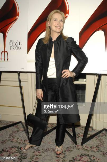 Meryl Streep during 'The Devil Wears Prada' PostScreening Auction to benefit The Breast Cancer Research Foundation Dress for Success Equality Now at...