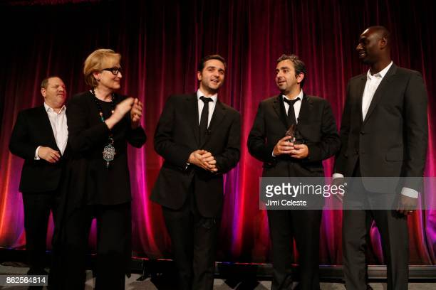 Meryl Streep Harvey Weinstein Oliver Nackache Eric Toledano and Omar Sy attend CHRISTOPHER AND DANA REEVE FOUNDATION Host A MAGICAL EVENING GALA at...