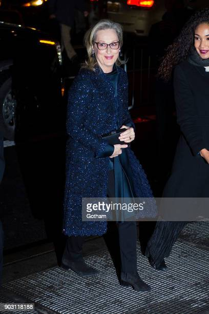 Meryl Streep is seen in Midtown on January 9 2018 in New York City