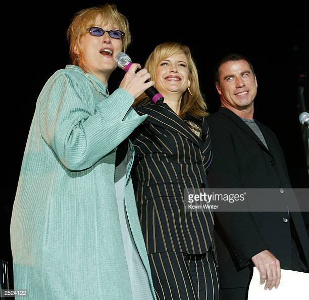 "Meryl Streep, Kelly Preston and John Travolta at ""One World, One Child Benefit Concert"" for the Children's Health Environmental Coalition honoring..."