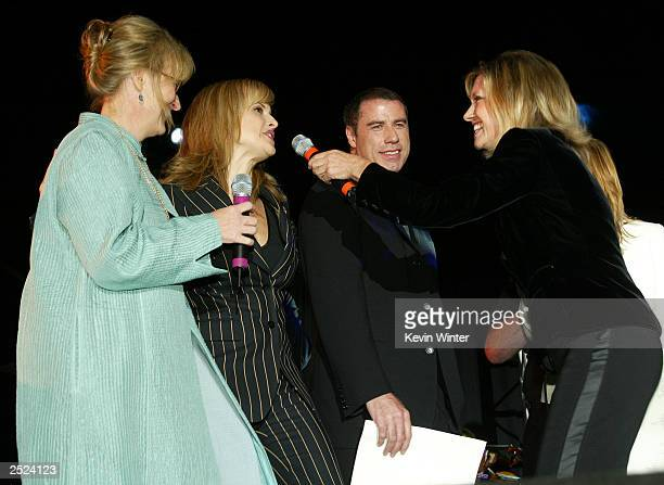 "Meryl Streep, Kelly Preston, John Travolta and Olivia Newton-John at ""One World, One Child Benefit Concert"" for the Children's Health Environmental..."