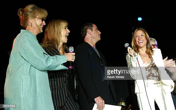 "Meryl Streep, Kelly Preston, John Travolta and Sheryl Crow at ""One World, One Child Benefit Concert"" for the Children's Health Environmental..."