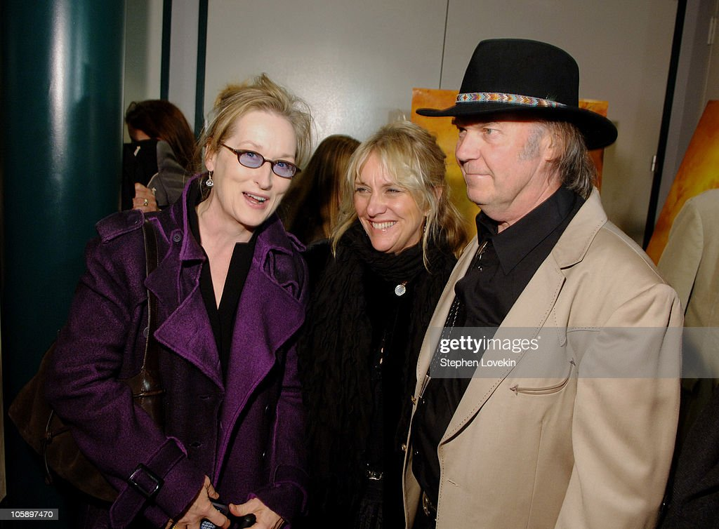 Meryl Streep, Pegi Young, and Neil Young during New York Special Screening of 'Neil Young: Heart of Gold' at Walter Reade Theatre at Lincoln Center in New York City, New York, United States.