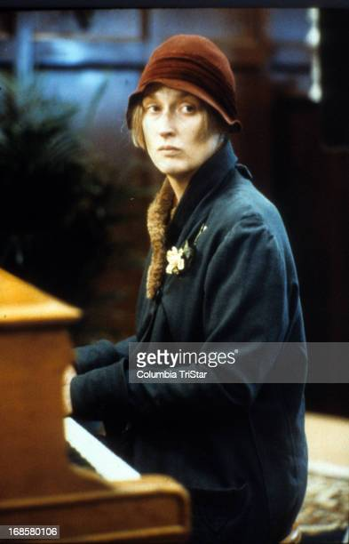 Meryl Streep plays piano in a scene from the film 'Ironweed' 1987