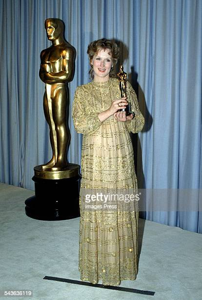 Meryl Streep receives Academy Award circa 1983 in Los Angeles California