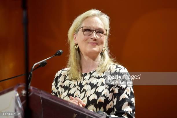 Meryl Streep receives the TIFF Tribute Actor Award during the 2019 Toronto International Film Festival TIFF Tribute Gala at The Fairmont Royal York...