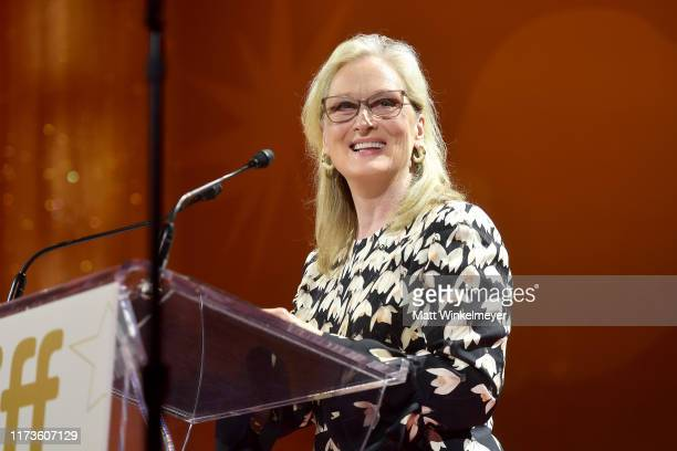 Meryl Streep receives the TIFF Tribute Actor Award during the 2019 Toronto International Film Festival TIFF Tribute Gala at The Fairmont Royal York...