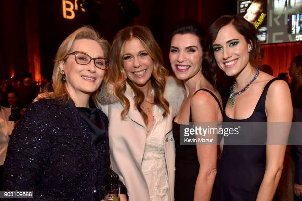 Meryl Streep Rita Wilson Julianna Margulies and Allison Williams attend the The National Board Of Review Annual Awards Gala at Cipriani 42nd Street...