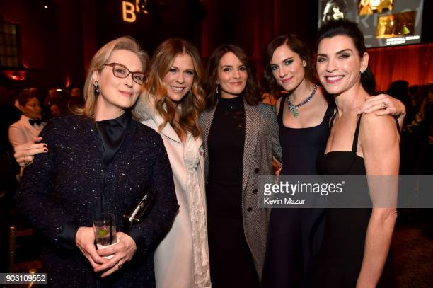 Meryl Streep Rita Wilson Tina Fey Allison Williams and Julianna Margulies attend the The National Board Of Review Annual Awards Gala at Cipriani 42nd...