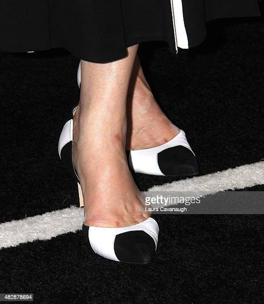 Meryl Streep shoe detail attends Ricki And The Flash New York Premiere at AMC Lincoln Square Theater on August 3 2015 in New York City