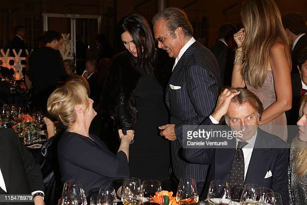 Meryl Streep, Susanna Smit, Mauro Masi and Luca Cordero di Montezemolo attend the Charity Gala Telethon during Day 8 of the 4th International Rome...