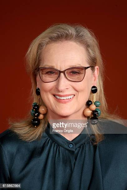Meryl Streep walks a red carpet for 'Florence Foster Jenkins' during the 11th Rome Film Festival at Auditorium Parco Della Musica on October 20, 2016...