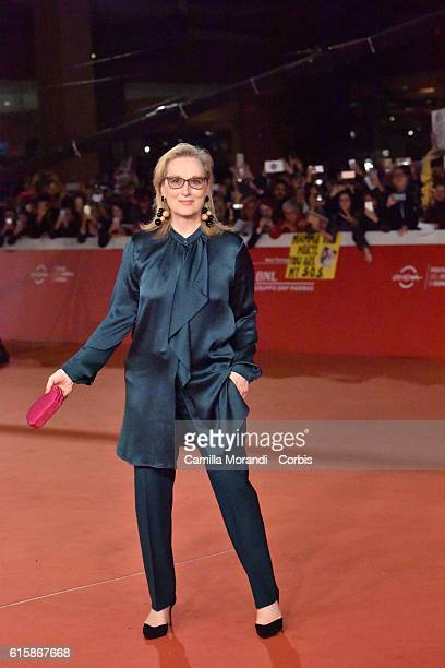 Meryl Streep walks a red carpet for 'Florence Foster Jenkins' during the 11th Rome Film Festival on October 20 2016 in Rome Italy