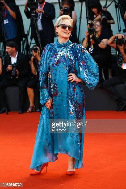 """Meryl Streep walks the red carpet ahead of the """"The Laundromat"""" screening during the 76th Venice Film Festival at Sala Grande on September..."""