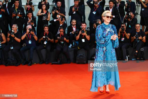 Meryl Streep walks the red carpet ahead of the quotThe Laundromatquot screening during the 76th Venice Film Festival at Sala Grande on September 01...
