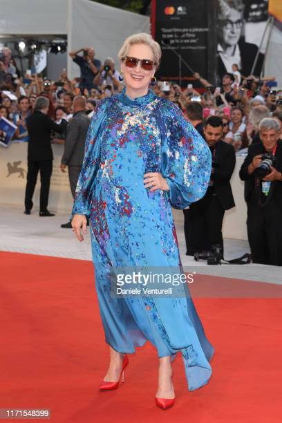 """Meryl Streep walks the red carpet ahead of the """"The Laundromat"""" screening during the 76th Venice Film Festival at Sala Grande on September 01, 2019..."""