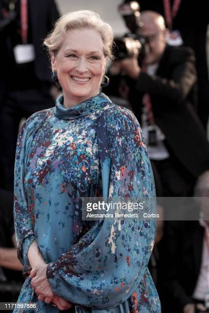 Meryl Streep walks the red carpet ahead of the The Laundromat screening during the 76th Venice Film Festival at Sala Grande on September 01 2019 in...