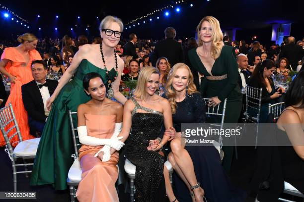 Meryl Streep , Zoë Kravitz, Reese Witherspoon, Nicole Kidman, and Laura Dern attend the 26th Annual Screen ActorsGuild Awards at The Shrine...