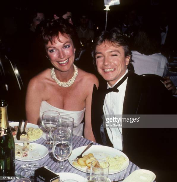 Meryl Tanz and David Cassidy attend 37th Annual Tony Awards on June 5 1983 at the Uris Theater in New York City
