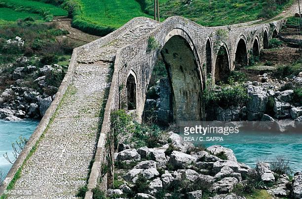 Mes bridge over the Kiri river near Shkoder Albania 18th century