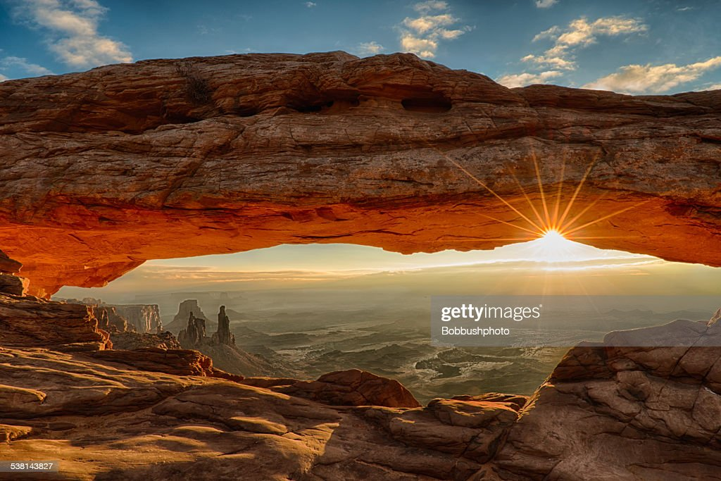 Mesa Arch Dawn Sunburst : Stock Photo
