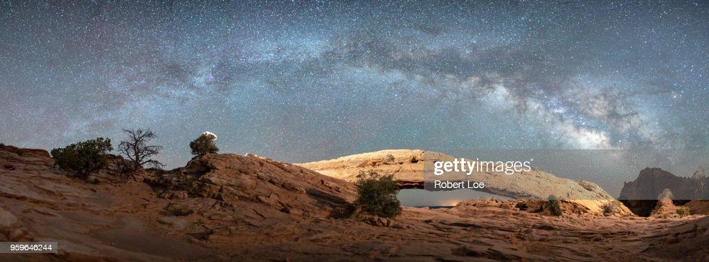 Mesa Arch Milky Way : Stock Photo