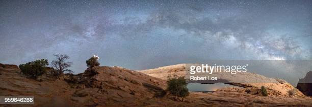 mesa arch milky way - mesa arch stock pictures, royalty-free photos & images