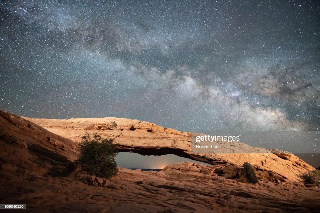 Mesa Arch Milky Way : Stock-Foto