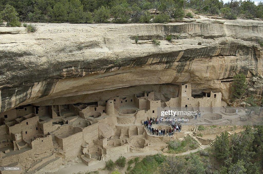Mesa Verde National Park cliff dwellings. : Stock Photo