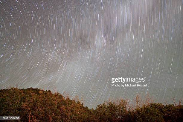 mesa verde star trails - mesa verde national park stock pictures, royalty-free photos & images