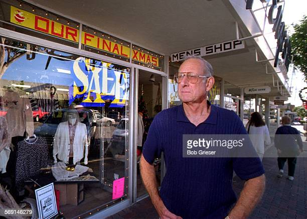 MESanClemente/Berges1/4BG20dec96––John Berges stands outside his mens store on Avenida Del Mar along San Clemente's main downtown shopping area with...
