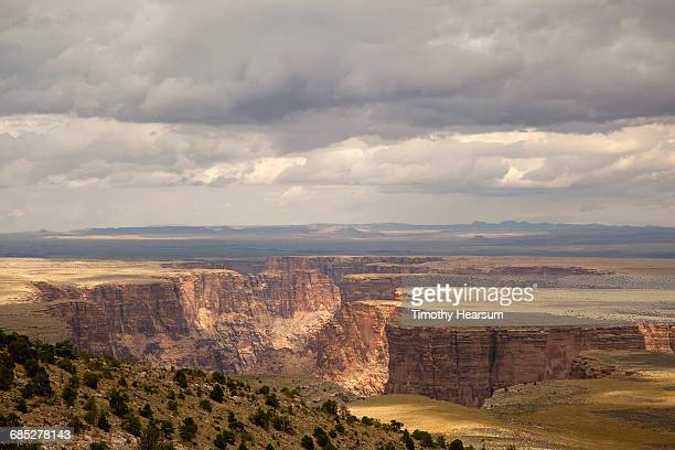 mesas of marble canyon with cloudy skies - timothy hearsum stock pictures, royalty-free photos & images