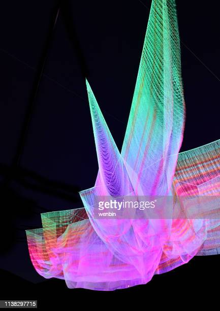 mesh fiber light show backgrounds - awards ceremony stock pictures, royalty-free photos & images
