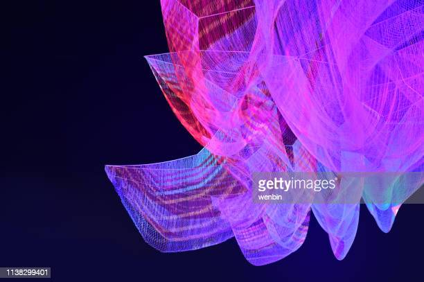 mesh fiber light show backgrounds - fashion show stock pictures, royalty-free photos & images