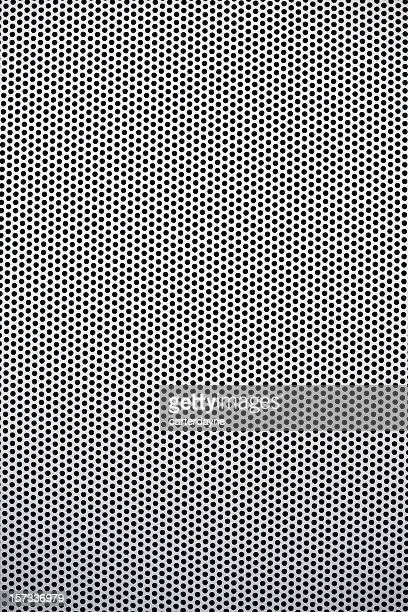 Mesh metal grate as background, dots and circles
