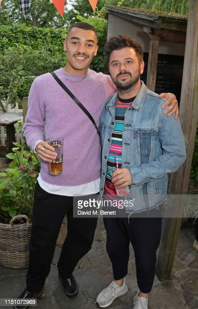 Meshach Henry and David Hodgson attend the VIP London launch of the Barbour by ALEXACHUNG collection at The Albion on June 20 2019 in London England