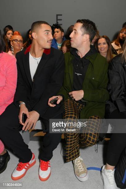 Meshach Henry and Nick Grimshaw attend the Ashley Williams show during London Fashion Week February 2019 on February 15 2019 in London England