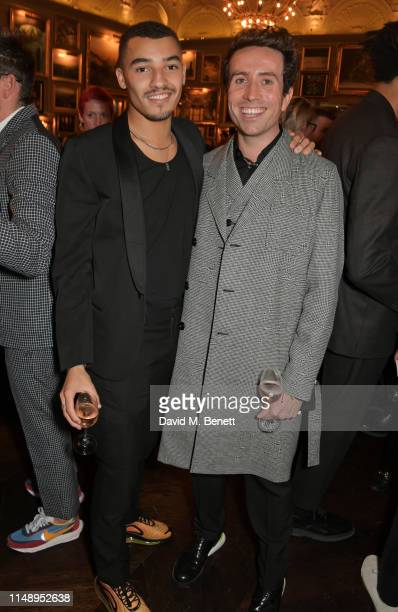 Meshach Henry and Nick Grimshaw attend the British GQ LFWM dinner hosted by Dylan Jones and Liam Payne with HUGO during London Fashion Week Men's...