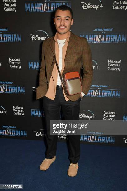 """Meshach Henry attends a private view of """"The Mandalorian And The Child"""", a special portrait being unveiled in collaboration with the National..."""