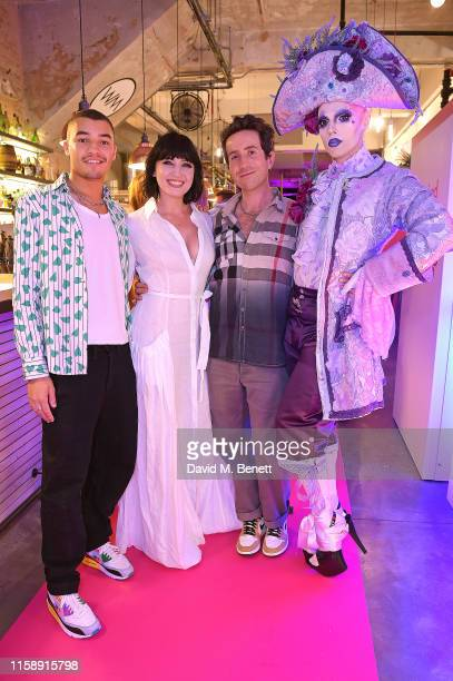 Meshach Henry, Daisy Lowe, Nick Grimshaw and Cheddar Gorgeous attend 'Drag Cleans', a unique drag show hosted by eco-friendly cleaning brand Method...