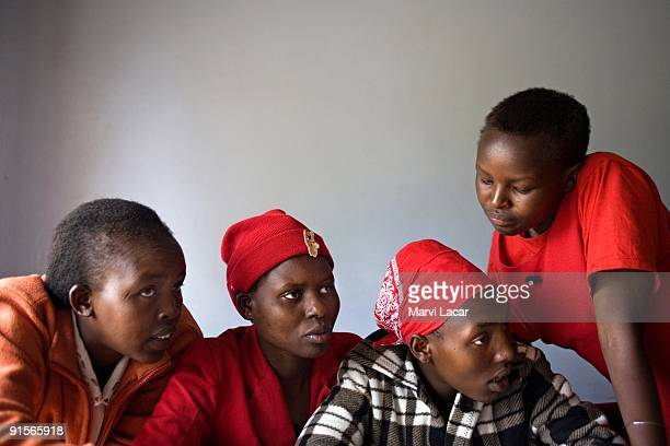 Mesianto Rebecca Naisho Pirias Jeniffer Kiok Sophy Meseno 17 and Renu Regina Masiaine 15 at the Tasaru Safehouse for Girls December 19 2006 in Narok...