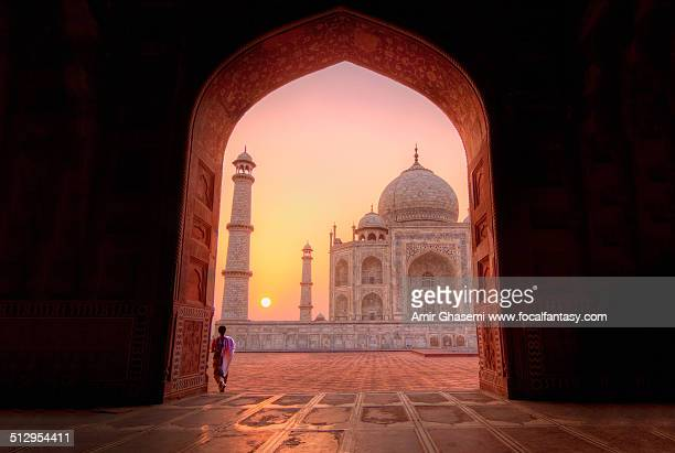mesmerized by beauty - taj mahal stock photos and pictures