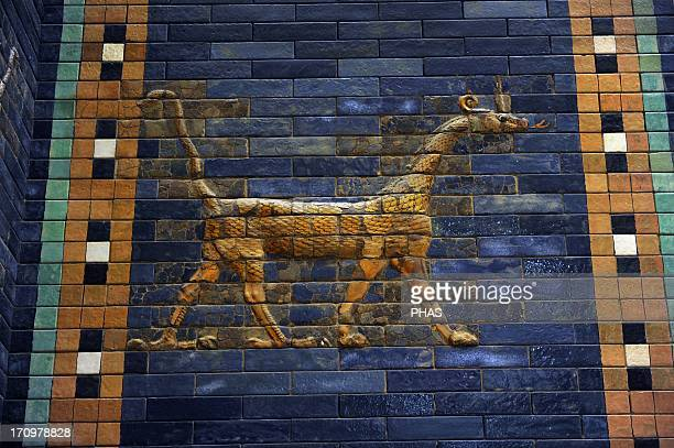 Mesopotamian art NeoBabylonian Ishtar Gate one of the eight gates of the inner wall of Babylon Built in the year 575 BC during the reign of...