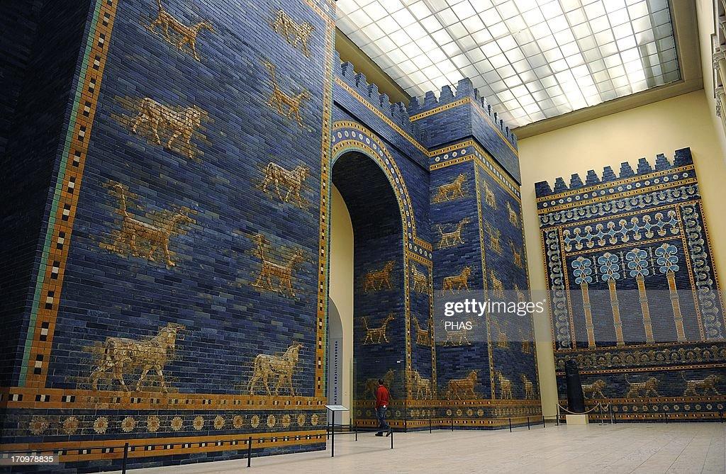 Mesopotamian art. Neo-Babylonian. Ishtar Gate. Pergamon Museum. Berlin. Germany. : News Photo
