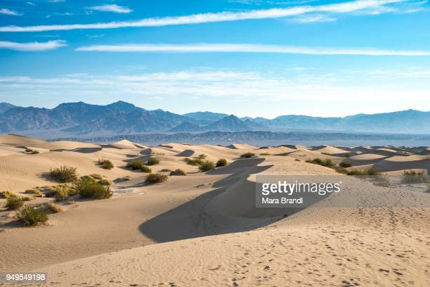 Mesquite Flat Sand Dunes, Amargosa Mountain Range foothills, Death Valley National Park, California, USA