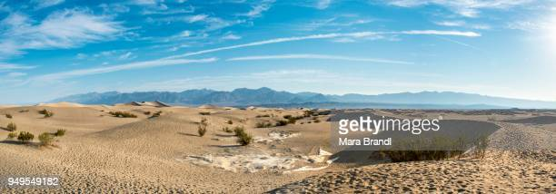 Mesquite Flat Sand Dunes,with Amargosa Mountain Range foothills, Death Valley National Park, California, USA